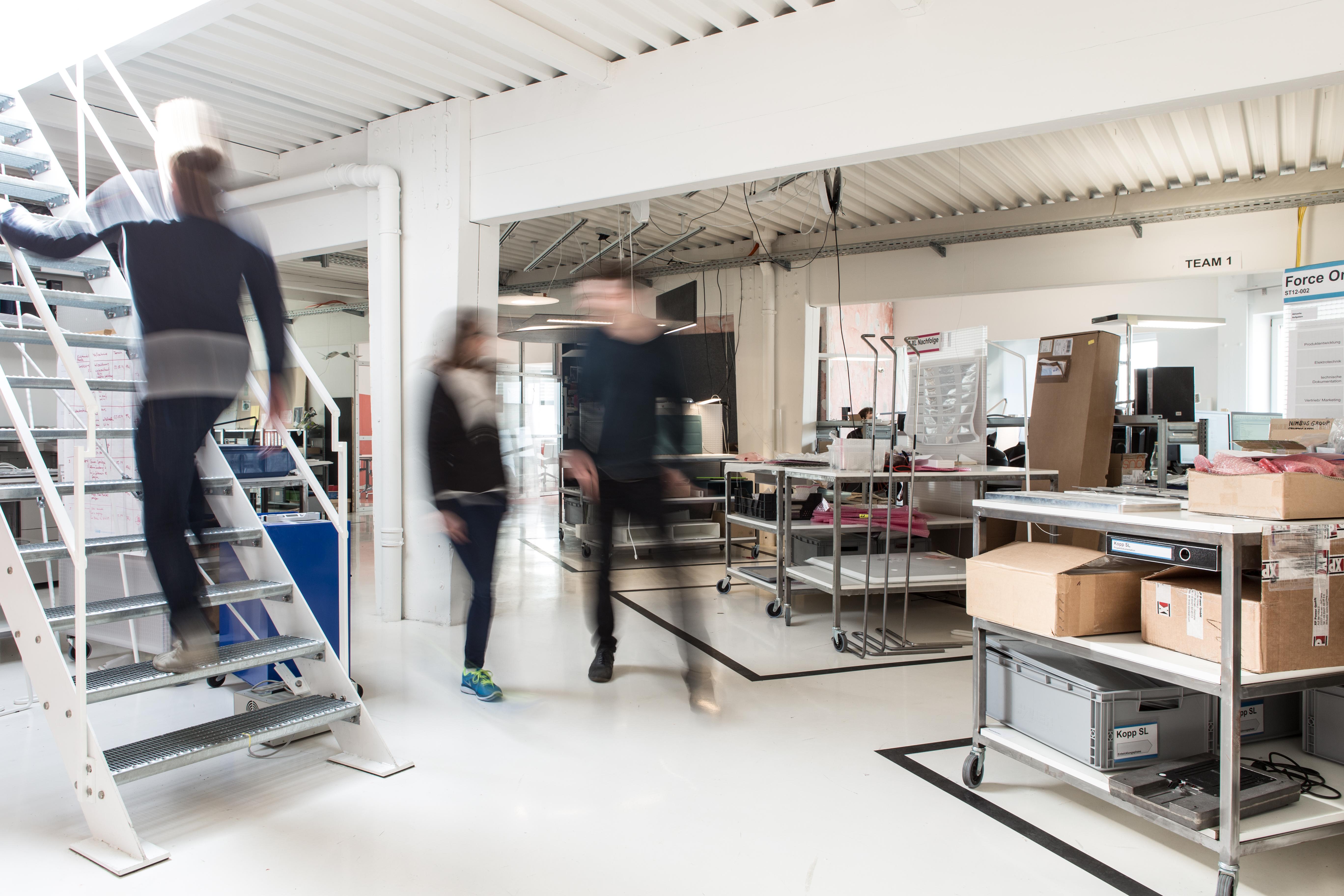 """Designer und Produktentwickler arbeiten eng zusammen im zuletzt neu gestalteteten """"Loft"""""""