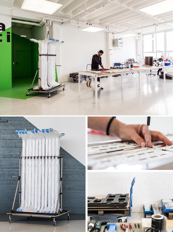 Industrielle Manufaktur, die Nimbus Produktion in Stuttgart-Feuerbach