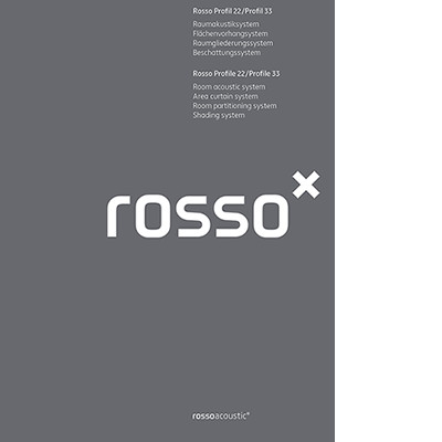 Catalogue Rosso Profile 22/Profile 33 Curtain- and room partitioning system